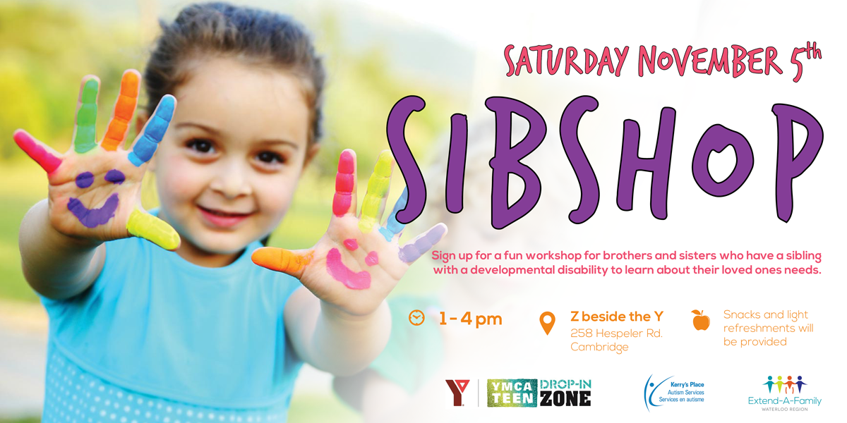 sibshop, extend-a-family waterloo region, disability services