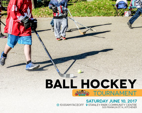 EAFWR ball hockey neighbours day at stanley park community centre city of kitchener