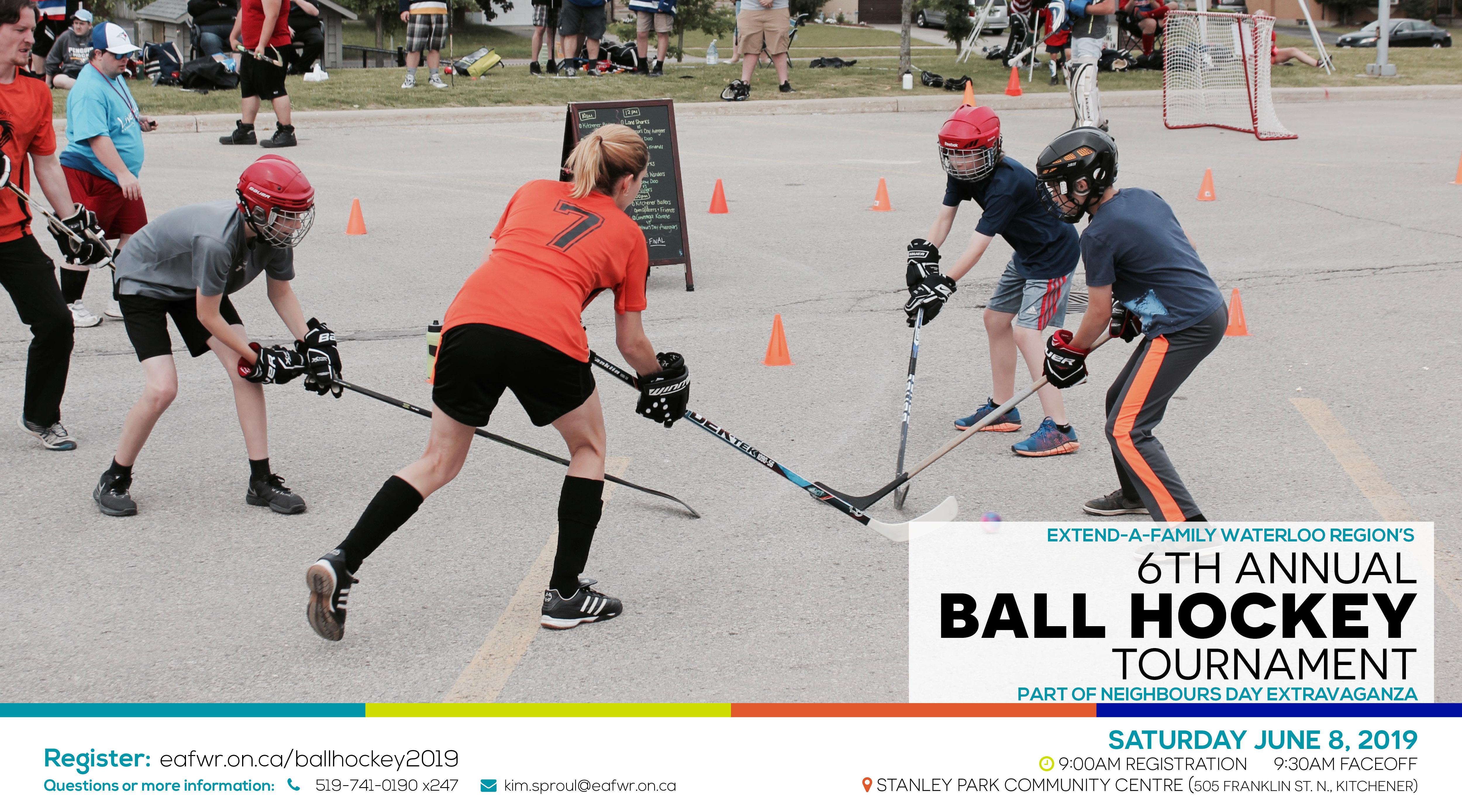 6th Annual Ball Hockey Tournament 2019 At Neighbour S Day