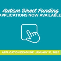 NOW AVAILABLE: 2020 Autism Direct Funding (ADF) Applications thumbnail
