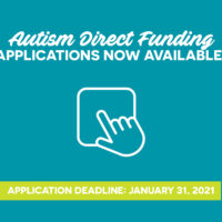 NOW AVAILABLE: 2021 Autism Direct Funding (ADF) Applications thumbnail